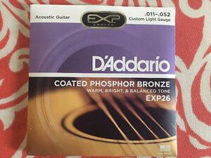 Four New Packages D'adderio EXP26 coated strings
