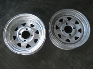 Two New 4 Lug 12X4 Galvanized Rims for Trailer