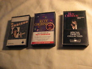(3) Roy Orbison hard to find collectible cassettes