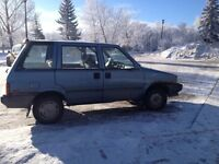 1988 Nissan Multi 4 wheel drive 5 speed with owners manual
