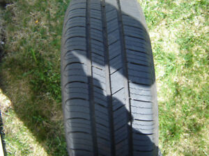 Like New, (4) Michelin Defender GRNX 185/65R15 Tires.