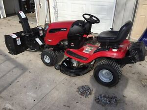 2009 21 Hp Craftsman Tractor with attachments