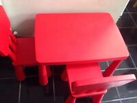 IKEA kids table with two chairs
