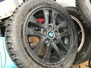 BMW Winter Tires 205/55/16 With Smoked Black BMW Rims For Sale