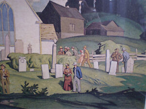 """A.J. Casson - """" Country Crisis """" -  Limited Edition Print Kitchener / Waterloo Kitchener Area image 7"""