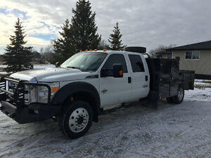 2012 F-550 XLT Crew 4X4 / SERVICE BODY AND HOTSY POWER WASHER