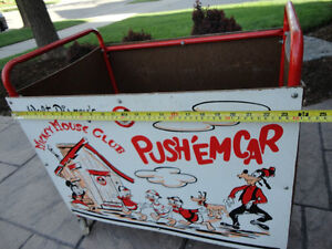 Vintage 1950's Mickey Mouse Club Push' Em Car In excellent Shape Kitchener / Waterloo Kitchener Area image 6