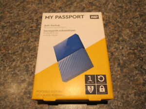 WD My Passport 1TB 2.5 USB 3.0 Portable External Hard Drive BNIB