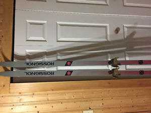 Rossignol cross country skis and poles