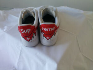 info for 41666 d7246 Custom Nike Air Force 1 LV Supreme Sneakers