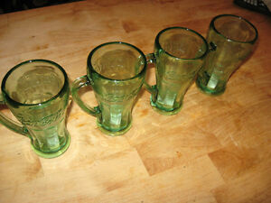 COKE GLASSES 50'S STYLE 4 GLASSES FOR $15.00 Cambridge Kitchener Area image 3