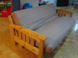 Double Futon Frame and Futon. Folds into couch