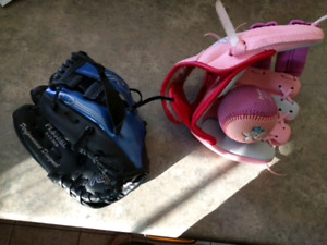 "Child's Baseball Gloves - (8.5 "" Rawling  & ""Dora the Explorer"")"