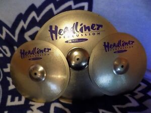 "Headliner Percussion 14"" High Hat and  20"" Ride for sale..."