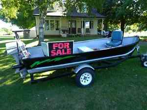 Water Ready Fishing Package!  14' Aluminum Boat Motor Trailer