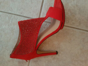 Women's Red Net High Heel. PRICED TO SELL