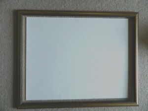 "Wood Frame with light gold and dark stain incl glass 18.25""x24"""