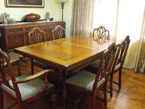 Antique Walnut Dining Room Set