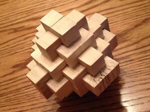 24 pc Hard Wood Large Burr Puzzle London Ontario image 4