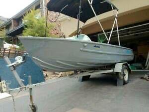 Quintrex 430 Runabout boat forward steer Yamaha outboard