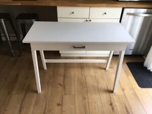 "White Writers Desk with Drawer - 42""x20"""