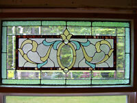 Beautiful stained glass and cut glass window