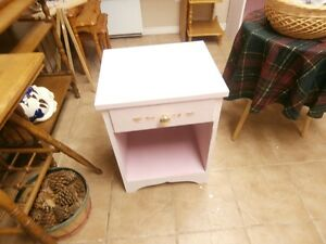 Pair of Lacey Pink Night Tables at KeepSakes at the Flea Market