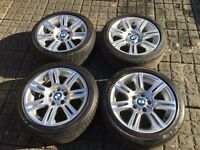 BMW 194 MSport Alloy Wheels with tyres.
