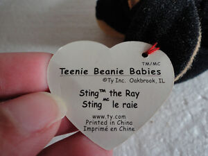 NEW TY Sting the Ray plush toy collectible beanie baby London Ontario image 3