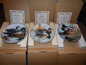 "Three plates from ""American Waterbirds"" collection."