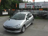 2003 PEUGEOT LOOK 206 1.1L ONLY 75,878 MILES, IDEAL 1ST CAR, LOW INSURANCE GROUP