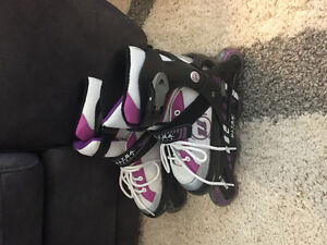 Girls Rollerblades - Adjusts to size 4