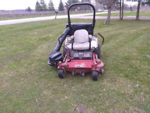 """** Exmark Lazer Z zero turn riding lawnmower 50"""" w vacuum bagger"""