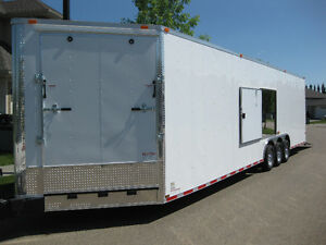 32' plus 5' V-NOSE CYNERGY TRIPLE AXLE TRAILER
