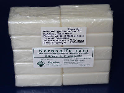 1 kg KERNSEIFE REIN SEIFE REINE WEISSE PURE SOAP JABON SAPONE WHITE BLANCO FREE