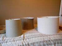 3 Lamp Shades...3 sizes...Neutral Colours!