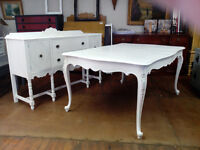 VINTAGE PAINTED DINING TABLES  CHAIRS SIDEBOARDS DRESSERS