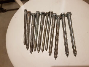 "11 - 6"" LAG BOLTS, NEW"