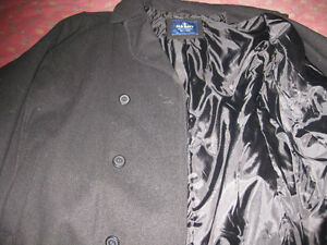 Men's Old Navy Black Double Breasted Wool Blend Peacoat Jacket