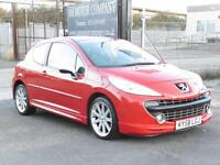 Peugeot 207 GTI, Red, 2008, 61 000 Miles, FSH, 3 Door Hatch,6 Months AA Warranty
