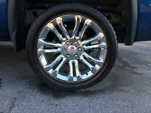22 inch Chrome GM rims and tire Kawartha Lakes Peterborough Area image 1