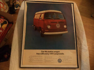 old vw bus classic car framed ads Windsor Region Ontario image 2
