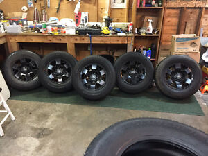 5 Toyota Rims and 265/70/17 10 Ply Winter Tires
