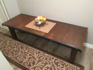 Hand crafted coffee table/bench