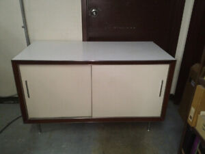 Mid-century Formica 1960's-1970.s Sideboard/storage cabinet