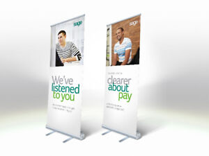 Pull Up Banner Stand (includes Graphics, Carry Bag)