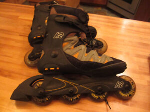Rollerblade K2, Patins roues alignées. gr.8 homme.  Comme neufs