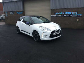 2014 CITROEN DS3 1.6 VTI 120 BHP DSTYLE PLUS ,ONLY 13000 MILES WARRANTED