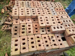 Red Clay Brick with 3 Holes