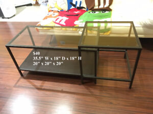43% OFF! Glass Coffee Table and Glass End Table 2-Piece Set